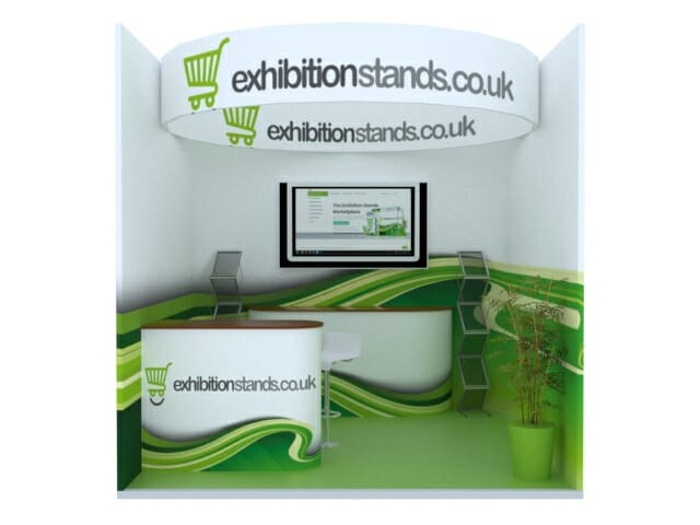 3x3 graphic display booth stands